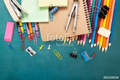 "Download the royalty-free photo ""School. School supplies on blackboard background ready for your"" created by BillionPhotos.com at the lowest price on Fotolia.com. Browse our cheap image bank online to find the perfect stock photo for your marketing projects!"
