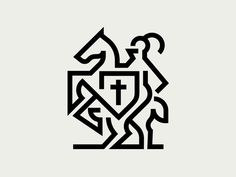 Knight :: rejected brand mark for a christian academy