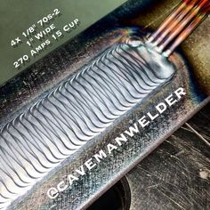 Sorry I keep milking this one very easy but fun bead on plate for all its worth but I haven't done a - cavemanwelder
