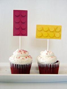 What a great addition to your childs Lego birthday party.....Lego cupcake toppers!!! This listing price is per cupcake topper. That you way can order any number of cupcake toppers in a variety of colours of your choosing. A lot of love, time and detail goes into handmaking each