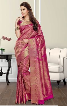 Wedding silk sarees,Soft Brocade Wedding Silk PSN 5