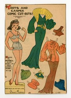 78.2401: Mabel | paper doll | Paper Dolls | Dolls | National Museum of Play Online Collections | The Strong