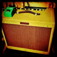 "Fender tweed Blues Jr. with a 12"" Alnico Jensen. Shamon!"