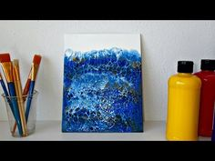 My latest blue swipe painting - Acrylic Pouring