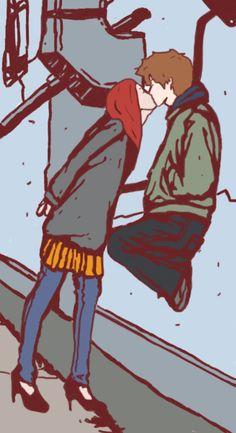 "astierfan: ""Peter Parker and Mary Jane Watson by annabanana713 """
