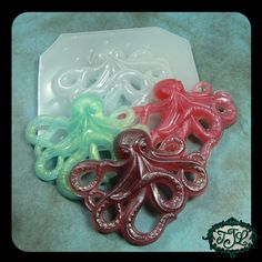 resin MOLD Octopus 64x52mm also for polymer clay by JeweledLizard, $5.75