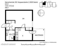 37,5m² Korppaanmäentie 2, 00300 Helsinki Kerrostalo yksiö vuokrattavana | Oikotie 9342684