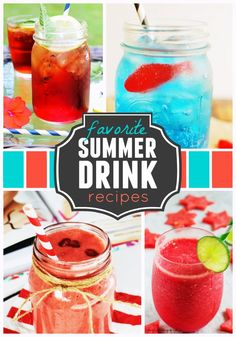 Plan an awesome summer party by using one or more of these 12 thirst-quenching drink recipes!