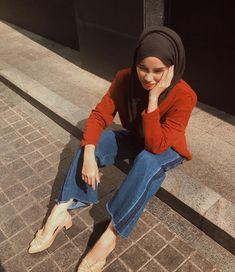 Street Hijab Fashion, Muslim Fashion, Korean Fashion, Polo Outfit, Outfit Look, Hijab Style, Casual Hijab Outfit, Look Fashion, Fashion Outfits