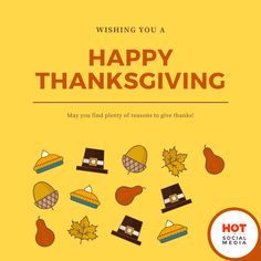 Wish you a Happy Thanksgiving! 🎉 May you find plenty of reasons to give thanks! Event Marketing, Give Thanks, Happy Thanksgiving, Wish, Thankful, Social Media, Events, Happy Thanksgiving Day, Social Networks