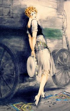 Flapper Girl - Louis Icart