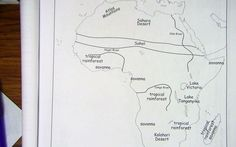 labeled map of Africa physical features_1.jpg 640×400 pixels