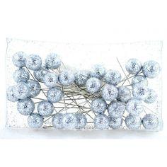 Varie - Spilli con perlina Glitter Argento pz 36 - un prodotto unico di raffasupplies su DaWanda