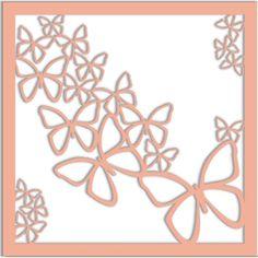 Butterflies - Laser Die Cut Background