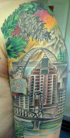Portland tattoo on pinterest oregon tattoo ankle tattoo for Tattoo shops in portland oregon