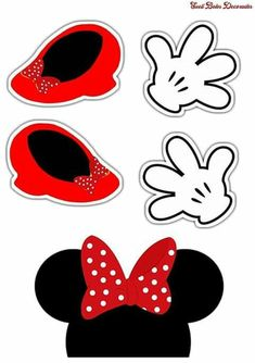 Mickey Mouse Theme Party, Mickey Mouse Crafts, Minnie Mouse Birthday Decorations, Red Minnie Mouse, Mickey Mouse Birthday, Disney Crafts, Image Mickey, Mickey Mouse Pictures, Mickey Mouse Wallpaper
