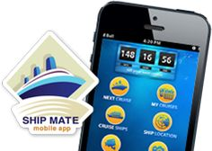 """Ship Mate Cruise App: """"Check out reviews, ratings, suggestions and tips for all cruise ships and ports. Meet others that you'll be cruising with in the most active Roll Calls and Chat Rooms out there. Use helpful tools to make the most of your time while at sea and port. """""""