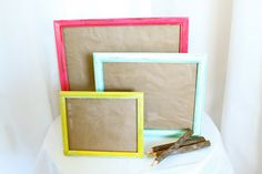 Upcycled & Distressed Wood Picture Frames