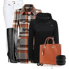A fashion look from October 2014 featuring Billabong sweaters, Yumi coats and Burberry jeans. Browse and shop related looks. Fall Winter Outfits, Autumn Winter Fashion, Fall Fashion, Stylish Outfits, Cute Outfits, Jean Outfits, Diva Fashion, Fashion Looks, Plaid Jacket