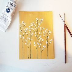 Your place to buy and sell all things handmade Flower Wall Art Bohemian Wall Painting Floral Wall Decor Small Canvas Paintings, Small Canvas Art, Cute Paintings, Mini Canvas Art, Acrylic Painting Flowers, Acrylic Painting Canvas, Flowers On Canvas, Bohemian Wall Art, Aesthetic Painting