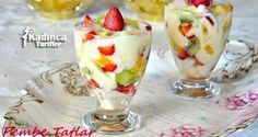 Limon Soslu Meyve Salatası Tarifi Gado Gado, Pomegranate Fruit, Easy Desserts, Fruit Salad, Panna Cotta, Cheesecake, Food And Drink, Pudding, Tasty