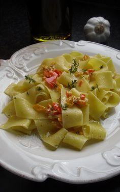 Pappardelle con peperoni e senape