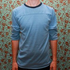 Vintage 3/4 sleeve jersey by RomancingTheGhost on Etsy, $14.43