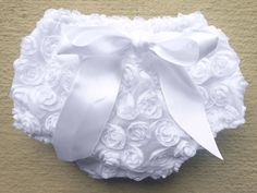 White Baby Bloomers  Baby Baptism  Baby by BabySquishyCheeks, $9.95