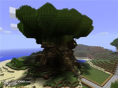 awesome minecraft houses | minecraft awesome tree house download