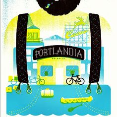 """Tonight / tomorrow's print #portlandia"""