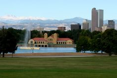 city park denver - good place to watch the sunset