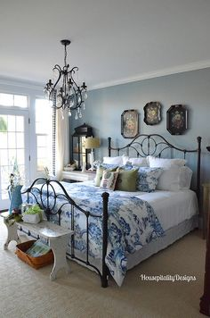 Merveilleux My Christmas Home Tour. Country BedroomsBlue ...