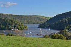 Superb River Dart vistas enjoyed from one of the viewpoints across Gurrow Point's estate, South Devon   Toad Hall Cottages