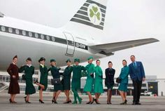At Irish carrier Aer Lingus' ceremony at Dublin Airport in June Aer Lingus flight attendants modeled vintage uniforms from each decade from 1945 through to the current Aer Lingus uniform Airline Cabin Crew, Airline Travel, European Airlines, Miss The Old Days, Dublin Airport, Airline Uniforms, National Airlines, Best Airlines, How To Be Likeable