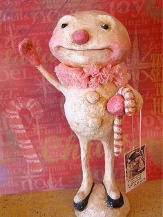 papier mache by Debra Schoch, reminds me of Mr. Bingle, the Christmas icon in New Orleans