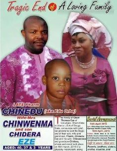 ArmanikEdu: Obituary of a man, his wife and 3-year-old son who...