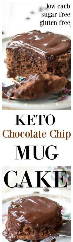 Keto Chocolate Chip Keto Mug Cake!!! - Low Recipe