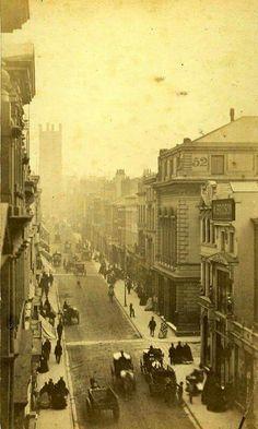 Victorian photo of Bold Street, Liverpool Liverpool City Centre, Liverpool History, Liverpool England, Liverpool Street, Liverpool Life, Victorian Street, Victorian London, Victorian Life, Baker Street