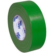2 Inch Wide Roll of Green Duct Tape.