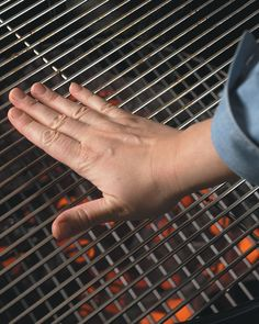 Temping Grills. How to know what temperature your grill is based on how long you can hold your hand over the coals.