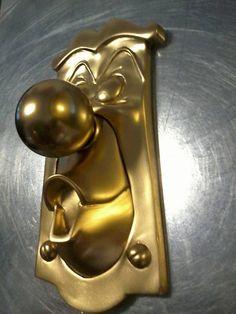 ALICE in WONDERLAND style DOORKNOB, really works! original sculpt by me, on Etsy, $85.00