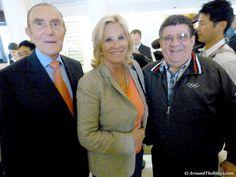 Ivan Dibos, IOC member in Peru, Donna de Varona, Olympic gold medalist, and Reynaldo Gonzalez, IOC member in Cuba. (ATR)