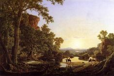 Hooker and Company Journeying through the Wilderness from Plymouth to Hartford, in 1636 - Frederic Edwin Church - 1846 - The Athenaeum
