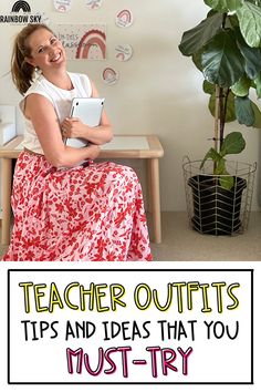 Come check out this FREE guide on how to prepare your wardrobe for your teaching career. Find tips and tricks on how to choose the best clothes, selecting staple items, and ways to mix and match! Plus, we're sharing ideas for ways that teachers can dress stylish, but do so affordably! Teacher Wear, Teacher Style, Teacher Outfits, Best Teacher, Teacher Fashion, New Outfits, Cool Outfits, Teacher Discounts, Teaching Career