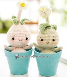 Bulbous flowers - amigurumi dolls (2) ~ this pattern needs to be translated ~ these are soo cute ~ FREE - CROCHET