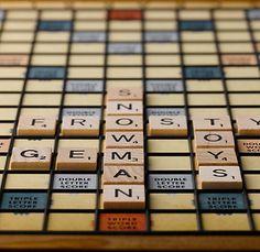 Vintage Scrabble board from Restoration Hardware