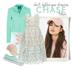 """""""Don't Follow Your Dreams,  Chase Them"""" by conch-lady ❤ liked on Polyvore featuring Reason, Chantecaille, McQ by Alexander McQueen, self-portrait and Vans"""