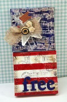 Cute 4th of July mini canvas tutorial by Julia Stainton // ellen hutson