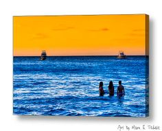 Women Of The Blue Sea - Costa Rica Seascape art by Mark E Tisdale - a little taste of beach life and Pura Vida from the Pacific Coast