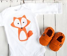 baby boy outfit fox onesie baby fox outfit by LittleMommaBoutique, $46.00